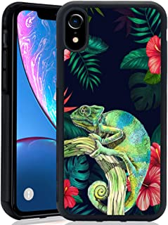 TPU Case for iPhone Xr, Thin Lightweight Printed Protection Cover Case, Chameleon Drawing Customized Design Skin Cover iPhone Xr
