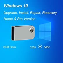 ILamourCar USB Compatible with Windows 10 Home&Professional 32&64 Bit, Recovery Repair Reinstall Clean Reboot Restore Fix ...
