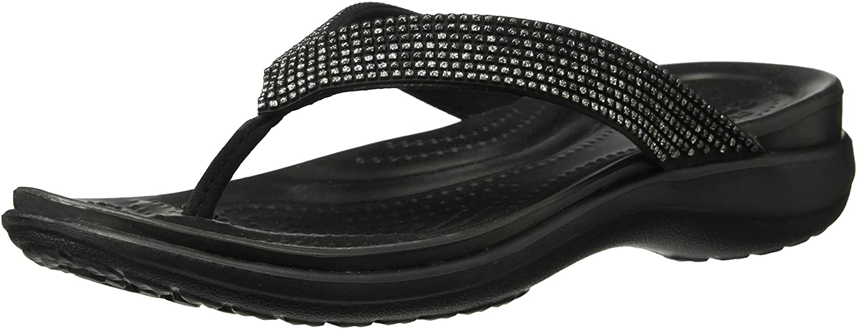 Crocs Womens Capri V Diamante Flip Flip-Flop