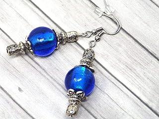 Pendientes Thurcolas de la gama Venezia en cuentas de cristal de Murano azul