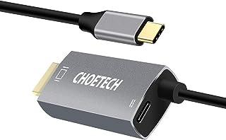 CHOETECH USB C to HDMIケーブル(4K @ 60Hz) 1.8M USB 3.1 Type C HDMIアダプタ、60W PD充電ポート(Thunderbolt 3対応)付 き Macbook Pro/iPad Pro/Ma...