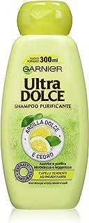 Garnier Ultra Dolce Shampoo Purificante Argilla Dolce e Cedro per Capelli Tendenti ad Ingrassarsi, senza Parabeni, 300 ml