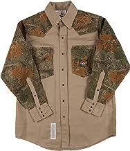 Rasco FR Camo Shirt FR Western with Snaps 10 oz