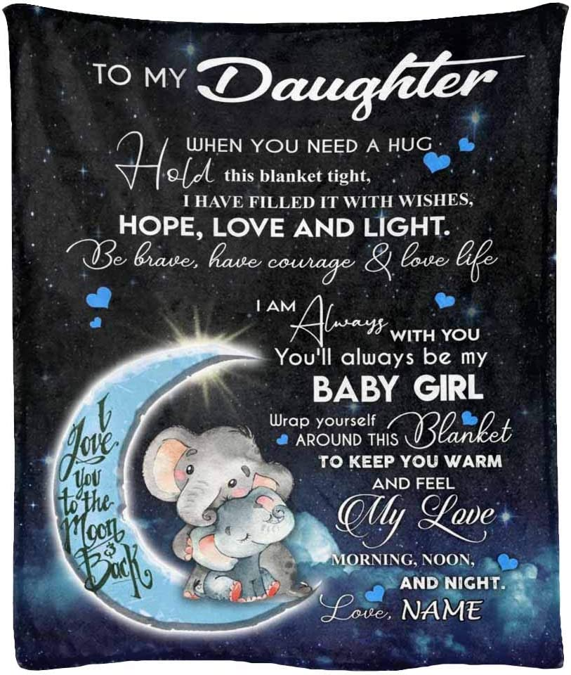 Personalized Name Blanket security for Daughter Always You'll Max 49% OFF Baby Be My