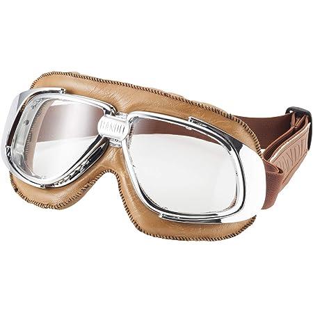 Bandit Motorradbrille Braun Mit Klaren Gläsern Auto