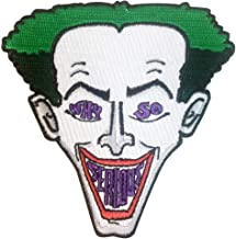 Why So Serious? Clown Face Green Hair Parody Design - Iron on Embroidered Patch Applique