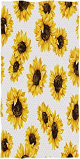 Wamika Flowers Hand Towels Ultra Soft Towel Sunflower Floral Absorbent Hand Towel Guest Bath Towels Washcloth Multipurpose for Hand Face Gym Spa 16