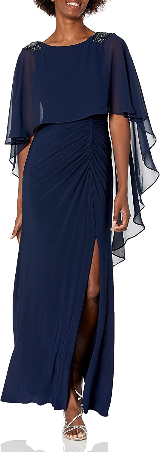 Adrianna Papell Women's Beaded Boat Neck Gown