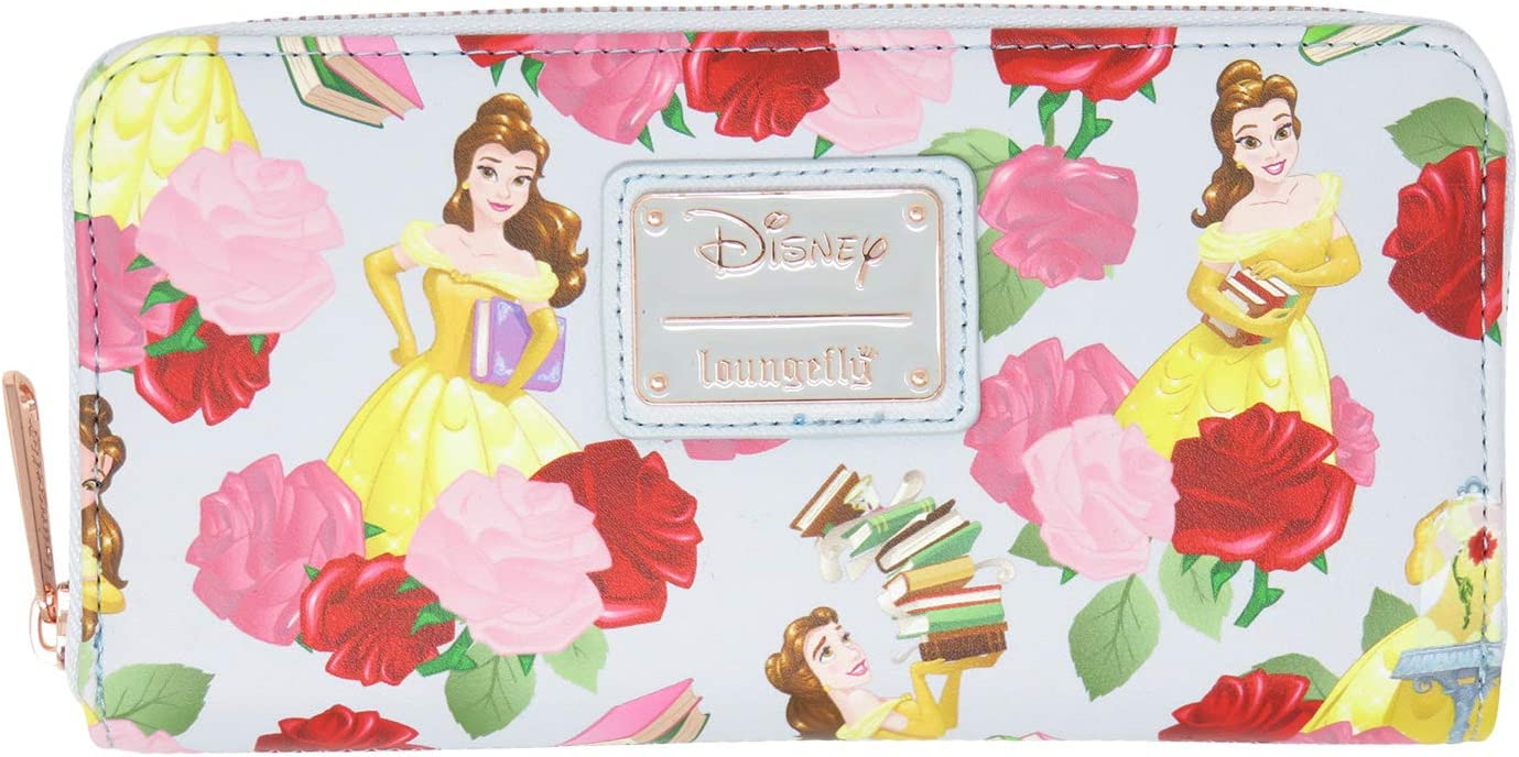 Loungefly Disney Beauty The Beast Belle Roses Max Nippon regular agency 68% OFF Floral Aroun Zip