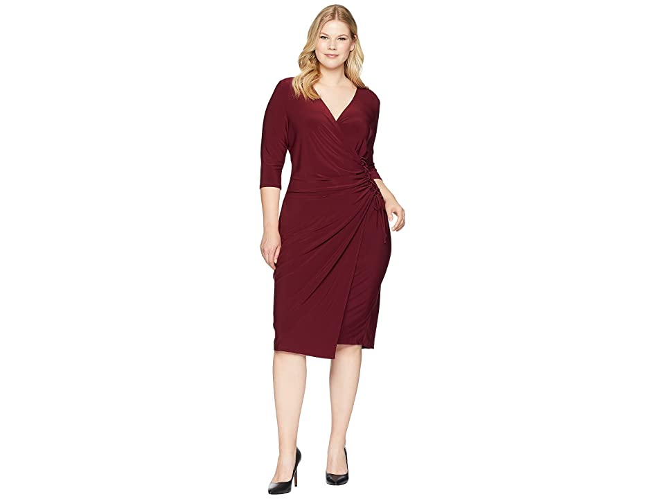 Kiyonna Vixen Cocktail Dress (Pinot Noir) Women
