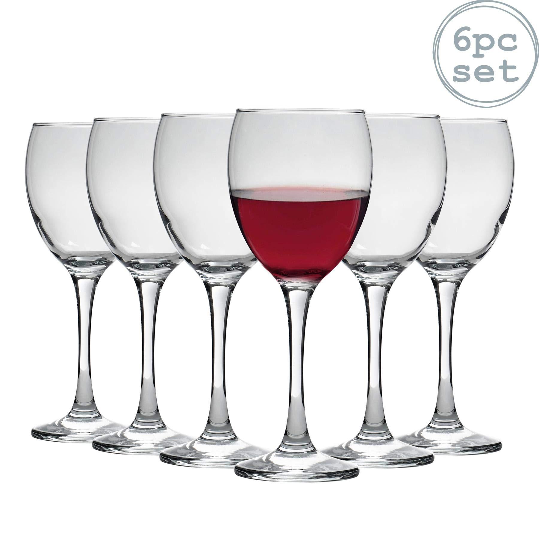 Argon Tableware Copas de Vino Tinto - En Caja Regalo - 340 ml - Pack de 6: Amazon.es: Hogar