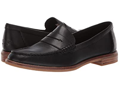 Sperry Seaport Penny Nubuck (Black) Women