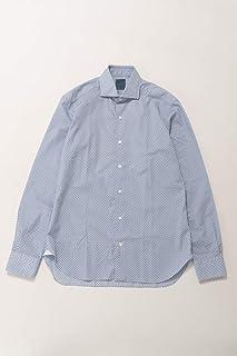 (バルバ) BARBA シャツ カッターシャツ ワイシャツ 長袖 ホワイト×ブルー メンズ (LIU1365820) 【並行輸入品】