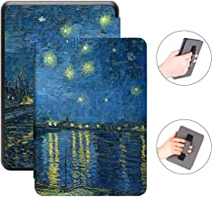 Jingdu Hand Strap Holding Case for All-New Kindle Paperwhite 10th Generation 2018 Released Premium PU Leather Slim Lightweight Smart Cover with Auto Wake/Sleep,B-Starry Night