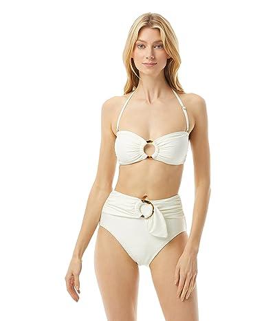 Kate Spade New York Textured Solids Ring Beandau Bikini Top