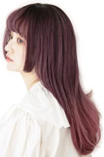 [ブライトララ] ウィッグ ロング インナーカラー 姫カット フルウィッグ 自然 姫髪 グラデーション