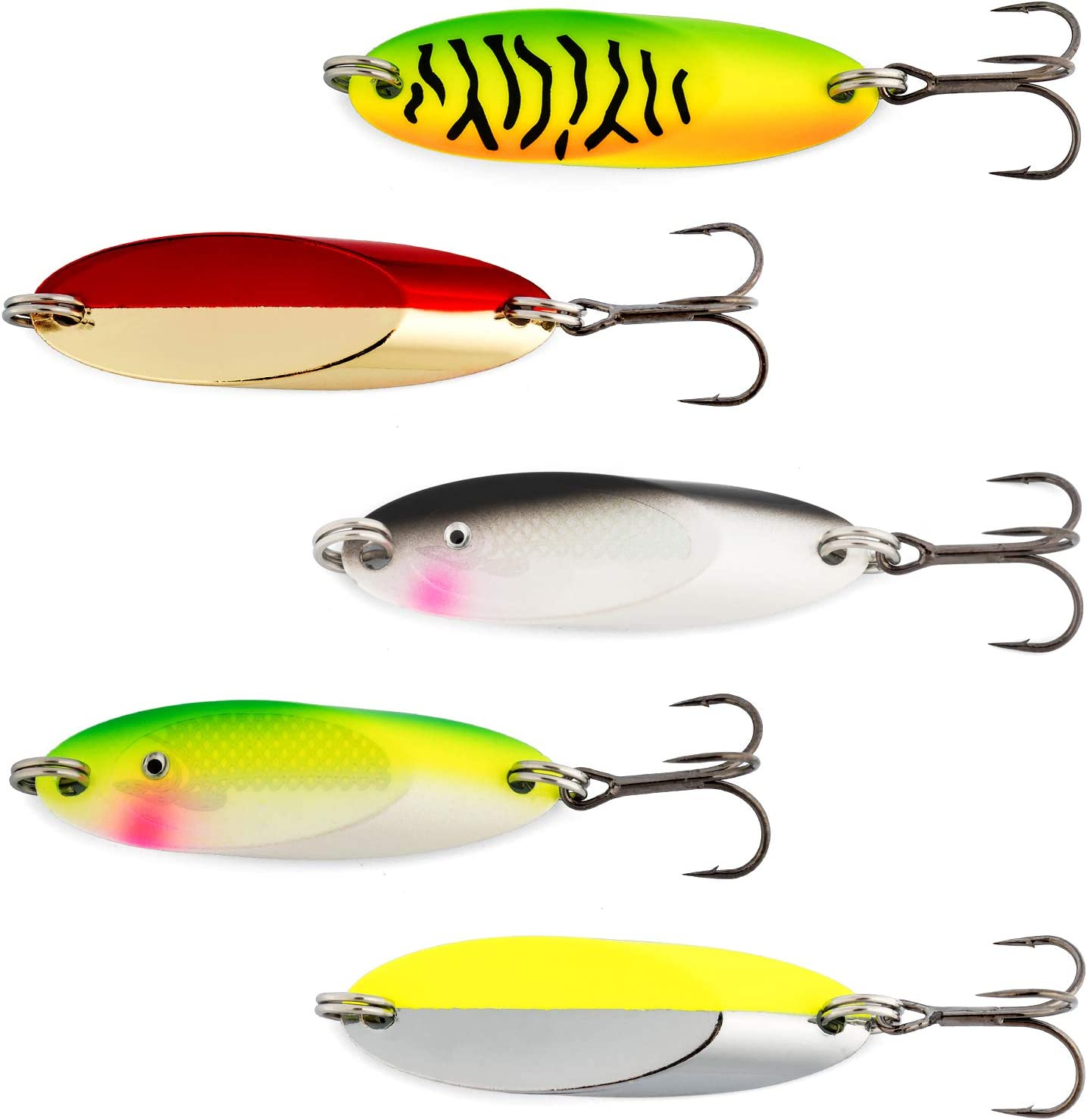 Dr.Fish 5 Fishing Special price for a Daily bargain sale limited time Spoons Long Casting Spoon Treble Mustad H Kit