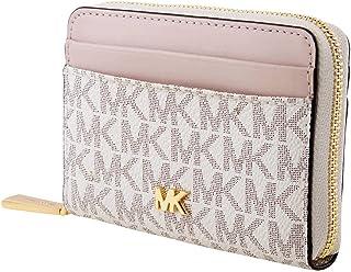 حقيبة بطاقات صغيرة من الجلد مع شعار العلامة التجارية، مخصصة للنساء من مايكل كورس