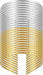 24 Pezzi Cerchietti di Metallo Lisce Fasce di Metallo Vuote 2 Colori Fascia per Capelli con Telaio in Filo Artigianale Fai...