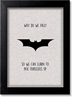 Blue Nexus Batman logo Superhero Wall Poster with Wall Frame Wall Stickers Room Art Poster Painting (Get 25% Off on Buying...