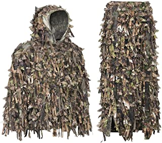 Auscamotek Leafy Suit 3D Hybrid Ghillie Suits for Hunting