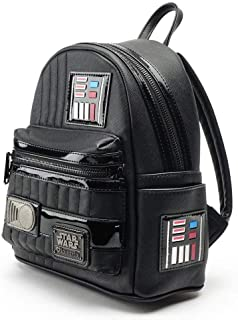 Loungefly Star Wars Darth Vader Cosplay Mini Backpack Standard, Black - STBK0052