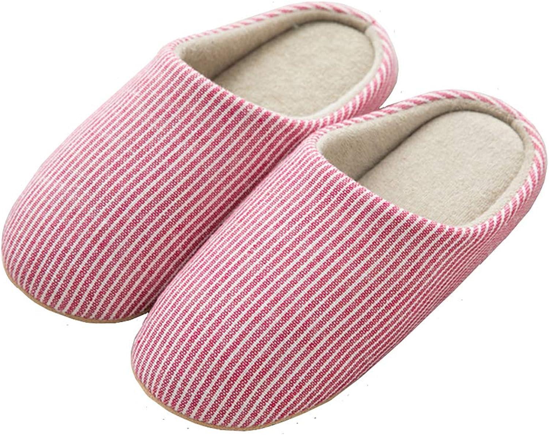 HaoJiLi Women's House Slippers Indoor shoes Warm Memory Foam Cotton Anti-Slip Ultra Lightweight shoes