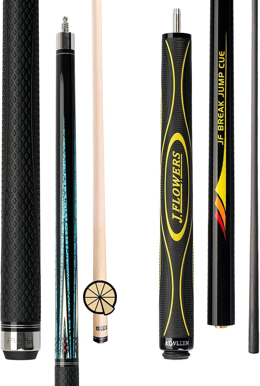 KONLLEN Jflowers Carbon Fiber PunchJump Cue Classic and Sales Stick Pool