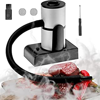 Cocktail Smoker with Woodchips, Indoor-Outdoor Smoking Gun Portable Smoke Infuser for Any Meat Cocktail Cheese BBQ Steak B...