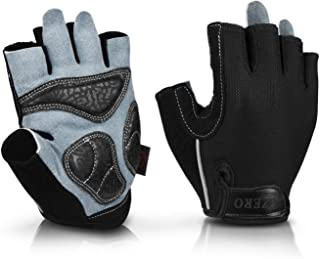 OZERO Bike Cycling Gloves Shockproof Gel Pads and Extra...