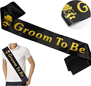 Groom Sash Bachelor Party Stag Night Engagement Celebration Supplies Favors, Wedding Gift from Bride, Best Man or Groomsmen -
