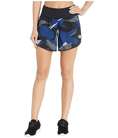 New Balance 5 Print Impact Shorts (Blue Print) Women