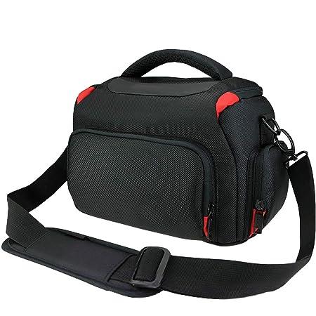 Khanka étanche Anti-Shock DSLR Camera Case Sac avec housse de pluie supplémentaire pour Nikon D3400, D3300, D5600, D5500, D5300, D7500, D7200, D750, D850, pour Canon EOS 4000d, 2000d 1300d,