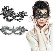 TreatMe Masquerade Mask - 2 Pack Women Venetian Mask Pretty Elegant Lady Lace Masquerade Halloween Mardi Gras Party