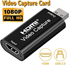 Rybozen Audio Video Capture Card,HDMI to USB USB2.0 High Definition 1080p 30fps, Directly to Computer for Gaming, Teaching...