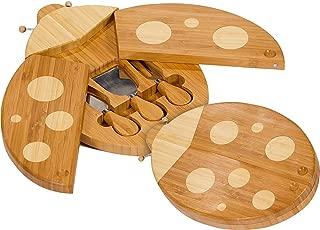 Picnic Plus Ladybug Shaped Bamboo Cheese Board and Tool Set