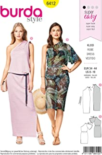 Burda Style Sewing Pattern B6412 - Misses' Easy-to-Sew Dresses, A(8-10-12-14-16-18)