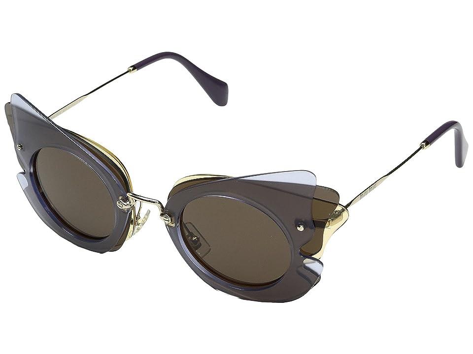 Miu Miu 0MU 02SS (Lilac/Yellow/Brown) Fashion Sunglasses