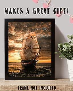 Blackbeards Pearl Pirate Ship- 8 x10