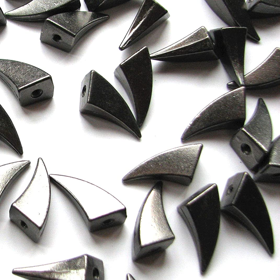 RUBYCA 17MM 30pcs Black Gunmetal Dragon Claw Spike and Studs Metal Screw-Back Spots Leather-craft DIY Punk Leather Clothes