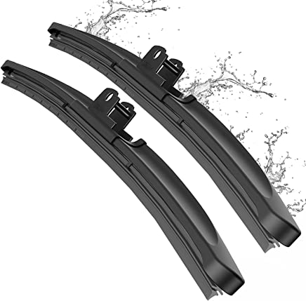 """Wiper Blade, METO T6 24"""" + 22"""" Windshield Wiper : Water Repellency Polymer Materials Silence Blade, Up to 60% Longer Life, for All Season even Clean Ice & Snow in Winter(Set of 2)"""