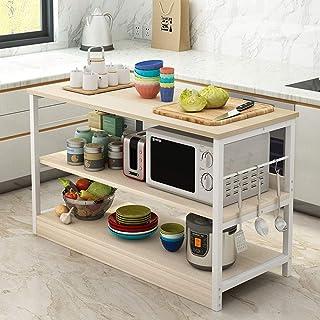 Étagères de cuisine Montage simple Spice rack Organisateur Poste de travail, 3-Tier Utility Rack Cuisine Baker étagère de ...