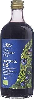 LOOV Organiczny Sok z Dzikich Jagód, 500 ml, Pozyskiwane z Nordyckich Lasów, Duża Zawartość Antyoksydantów, 100% Tłoczonyc...