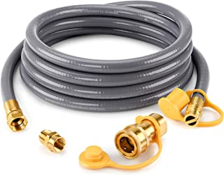 """Kohree 1/2"""" ID Natural Gas Grill Hose 12FT with Quick Connect 3/8"""" Female x 1/2"""" Male Adapter Conversion Kit for Patio Hea..."""