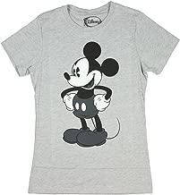 Freeze 24-7 Juniors Disney Mickey /& Minnie Mouse Cutout Graphic T-Shirt Grey Heather, L