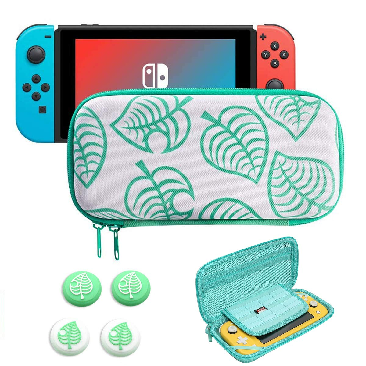 Ranking TOP16 Carrying Case for Nintendo Colorado Springs Mall Switch Hard Leaf Animal Crossing New