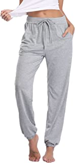 Aibrou Pajama Pants for Womens Cotton Stretch Knit Lounge...