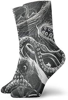 スカイラインクリスマスの靴下の巨大なイカのスリップ