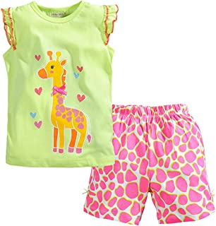 Little Bitty - Conjunto de Pantalones Cortos para niña de Verano y algodón, Juego de Pantalones Cortos Esenciales