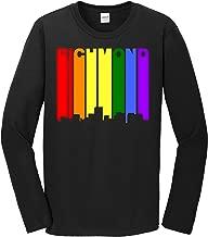 Richmond Gay Pride Shirt - Richmond Virginia LGBTQ Rainbow Skyline Long Sleeve T-Shirt